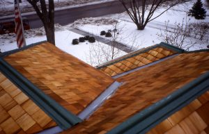 roof in the winter
