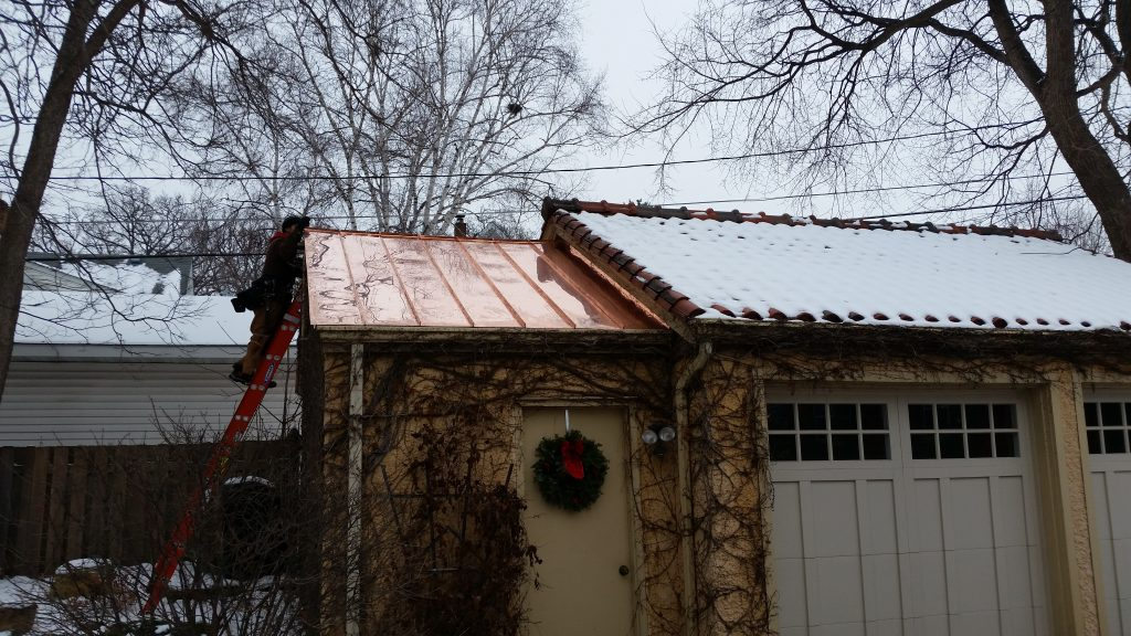 roof with snow on it in winter